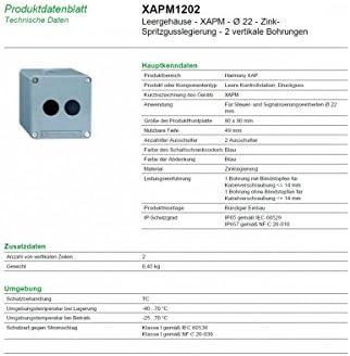 Schneider Electric XAPM1202 Caja Metalica Vacia 2 Taladros: Amazon.es: Industria, empresas y ciencia