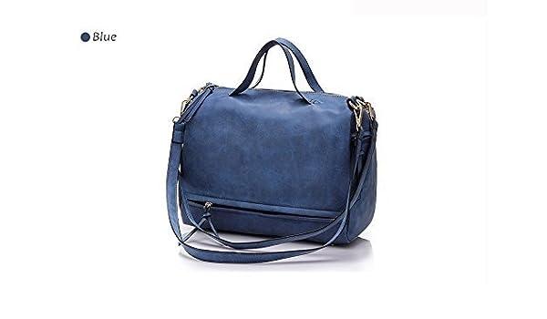 8095ef77b5 Wyhui Women s Shoulder Bag Nubuck Leather Vintage Messenger Bag Motorcycle  Shoulder Bags Women s Bag Blue  Handbags  Amazon.com