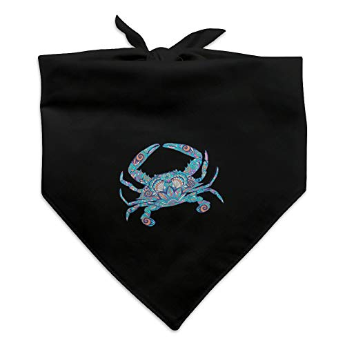 - GRAPHICS & MORE Mosaic Crab Dog Pet Bandana - Black