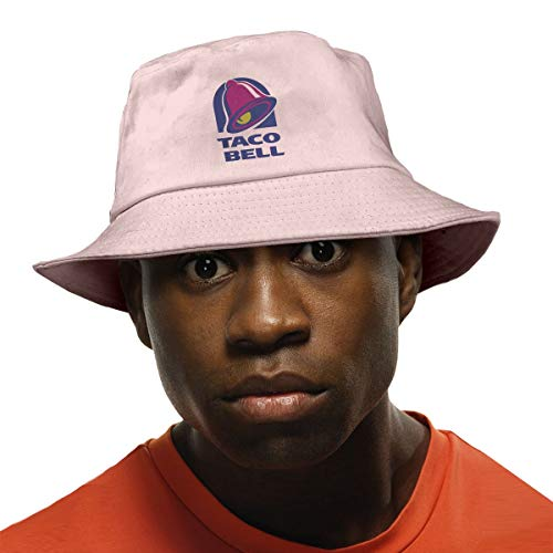 Fashion Summer Fisherman Cap Cute Taco Bell Bucket Hat Unisex Pink