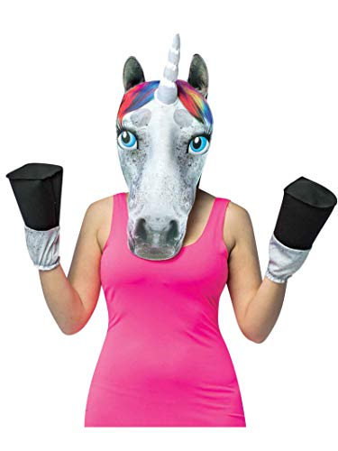Rasta Imposta Unicorn Mask and Hooves Costume Kit White (Mask Stand Does What For)