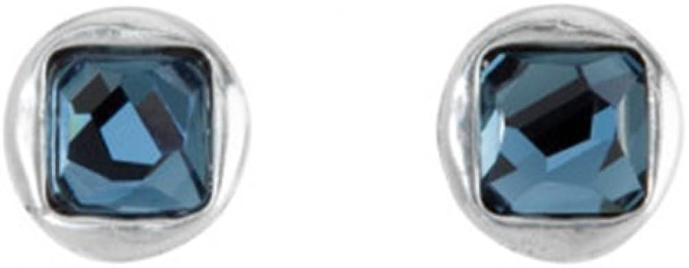Uno De 50 PEN0515AZUMTL0U - Pendientes para mujer bañados en plata y cristal azul