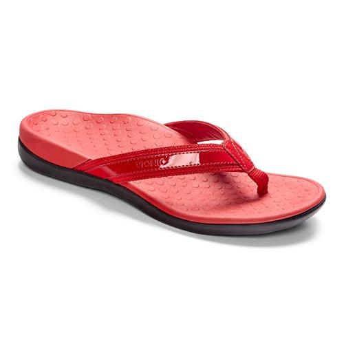 Vionic Vionic Islander Toe Post Sandal - Sandalias de Piel para mujer Dorado dorado Red