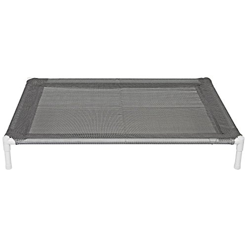 Elevated Cooling Dog Bed, Knitted Fabric Pet Cot, Portable (Large) by Animals Favorite (Image #4)