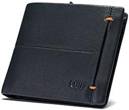 OPP Designer Men's Capacity Genuine Leather Slim Wallet