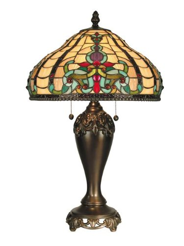 Dale Tiffany Antique Table Lamp - Dale Tiffany TT60203 Topaz Baroque Table Lamp, Antique Golden Sand