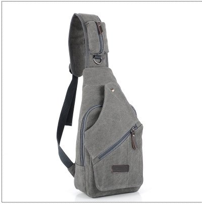 Neue koreanische M?nner diagonal Brust Tasche Multi-Funktions outdoor Herren canvas Tasche gray