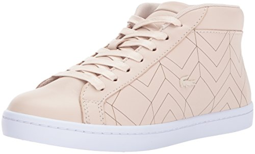 Flat Lacoste Womens Shoes (Lacoste Women's Straightset Chukka 417 1 Sneaker, Light Pink, 9 M US)