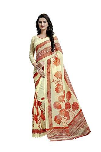 Janasya Women's Yellow Printed Chiffon Saree(JNE1561-SR-624YELLOW)