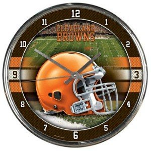 Clock Chrome Nfl - NFL Cleveland Browns Chrome Wall Clock by Wincraft