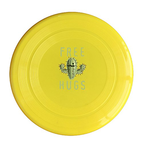 EVALY Free Hug Cartoon Cactus 150 Gram Ultimate Sport Disc Frisbee Yellow]()