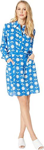 Juicy Couture Women's Silk Marigold Floral Dress Summer Rain/Marigold X-Large