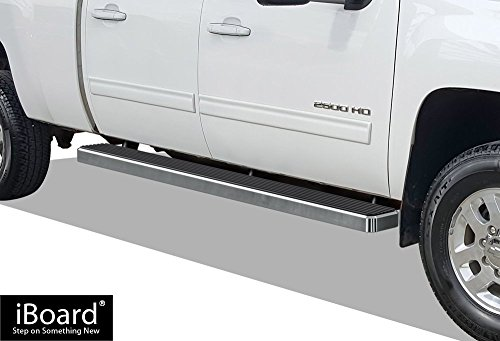 Chrome 6 Inches Running Board Side Step Nerf Bar Compatible with Chevy Silverado//GMC Sierra Crew Cab 07-19