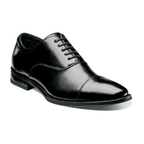 Stacy Adams Kordell Scarpe Oxford Nere In Pelle Con Punta A Punta