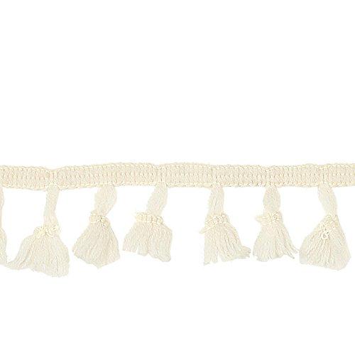 Ivory Tassel Fringe - Expo International 0554324 4 3/4in Agnes Party Tassel Fringe Trim Ivory