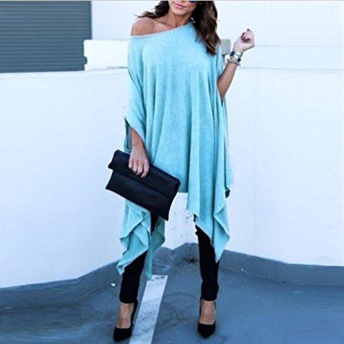 Spbamboo Women Plus Size Casual Blouse Irregular Shirt Batwing Sleeve Tops 2018 by Spbamboo (Image #1)