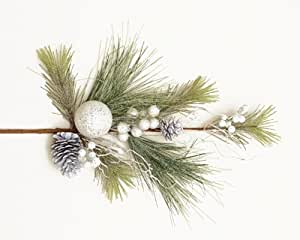 Your Hearts Delight Snowy Pine/Needles Branch, 31-Inch