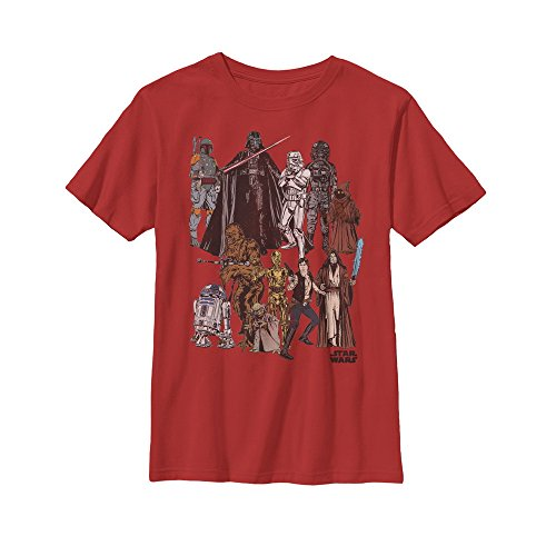 Star Wars Boys' Character Party Red T-Shirt