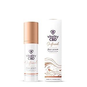 Vitality CBD Infused Face Serum, 300mg cannabidiol...