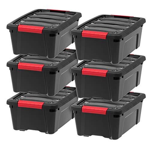 IRIS USA, Inc TB-42 Stack & Pull Storage Box 12 Quart -
