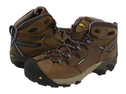 Keen Utility(キーン) メンズ 男性用 シューズ 靴 ブーツ 安全靴 ワーカーブーツ Detroit Mid Slate Black/Brindle [並行輸入品] B07BMG7XDH 8.5 D Medium