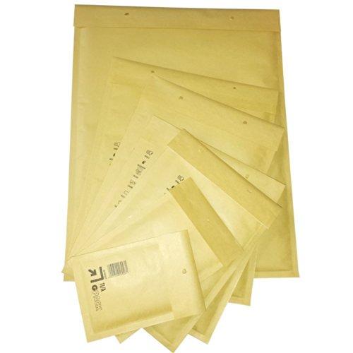 ® 50 Stück Gr. K/10 Luftpolstertaschen Versandtaschen Umschläge [ 350x470 mm] Braun DIN A3+/C3 Briefumschlag Beste Qualität