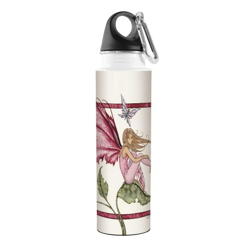 Tree-Free Greetings VB47588 Amy Brown Fantasy Artful Traveler Stainless Water Bottle, 18-Ounce, Pink Fairy