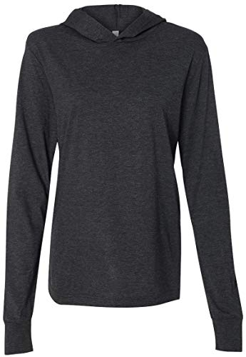 Yoga Clothing For You Mens Lightweight Hoodie Tee Shirt (Mens Medium, Charcoal Black Triblend)