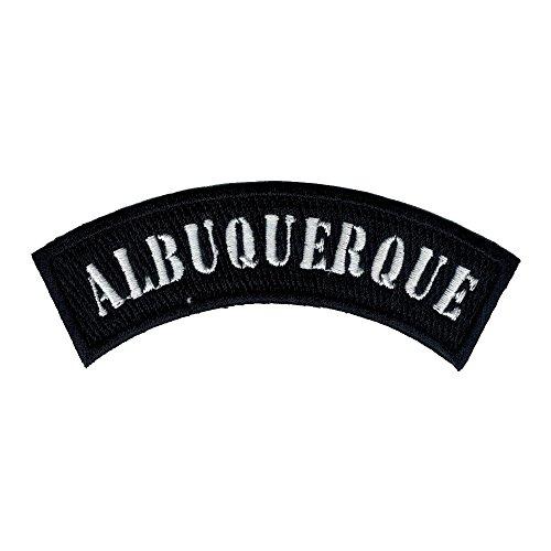 Albuquerque City Rocker/biker 4 Inch Width Diy Embroidered Iron on / Sew on Patch - Stores Albuquerque