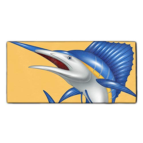 Blue Marlin Fish Cartoon Dish Towels, Ultra Absorbent, Heavy Duty, Drying & Cleaning, Everyday Kitchen Basic, Dishtowel 11.8 X 27.5 Inches