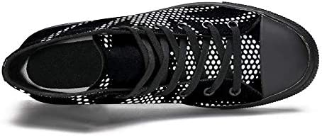 TIZORAX Polka Dots Spider High Top Sneakers per Donne Teen Gilrs Fashion Lace Up Canvas Scarpe Casual Scuola Walking Shoe