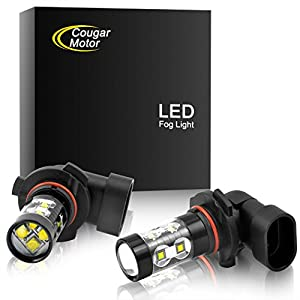 Cougar Motor H10 9145 CREE LED Fog Light/DRL Bulbs - 60W 5000K Bright White (Pack of two bulbs)