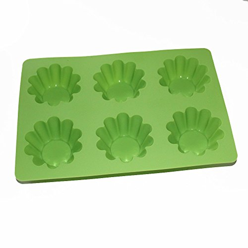 X-Haibei Egg Tart Brioche Tartlet Cupcake Jello Gelatinas Pan Soap Making Mold Silicone