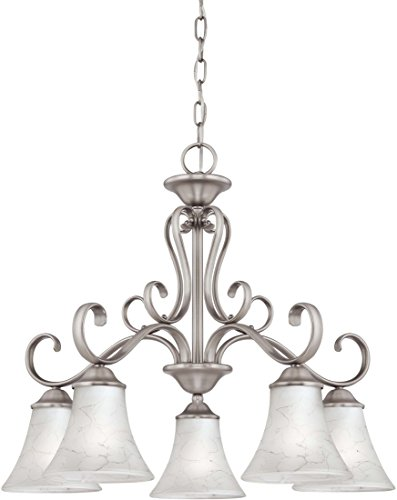 Quoizel DH5105AN Duchess European Downlight Chandelier, 5-Light, 500 Watts, Antique Nickel (21