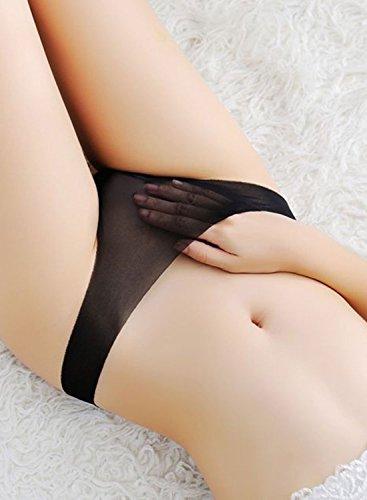 6fdf923ebfe Justgoo Women s Sexy Sheer Panties Thongs Mesh G-Strings Low Rise Brief  Underwear