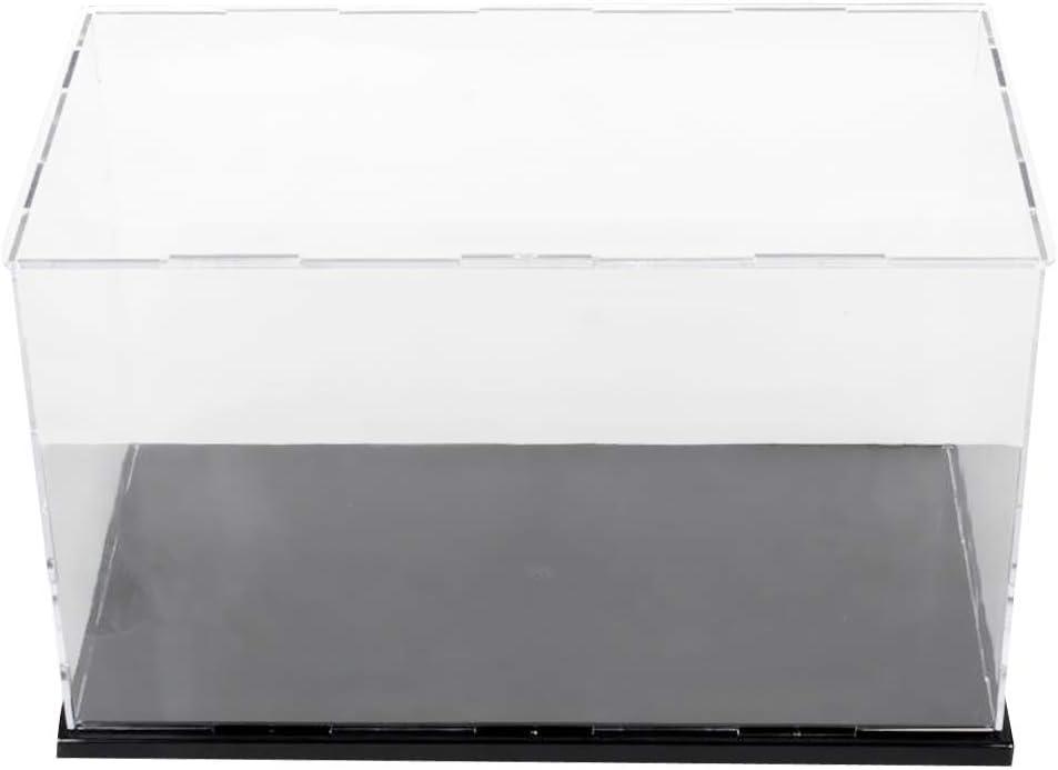Tubayia Acryl Spielzeug Display Show Case Vitrine Ausstellung Box f/ür Automodell//Actionfigur 40 x 30 x 30 cm Puppenmodell