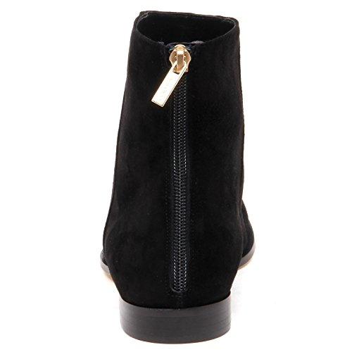 Choo Shoe Black Flat Scarpe Duke Donna Jimmy E6566 Nero Tronchetto Woman Suede Boot Sax6wqpdp