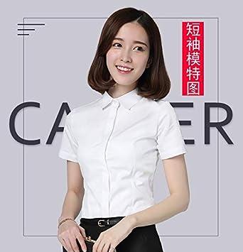 Marca: Tonw MODA Siameses blanca de manga larga camisa de vestir maestro profesional de la función pública entrevista femenina vestido de manga larga delgada de gran tamaño más gruesa de terciopelo br: