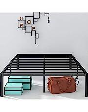 Zinus 16 Inch Metal Platform Bed Frame with Steel Slat Support / Mattress Foundation, Queen