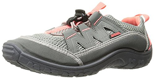 Northside Women's Brille II Summer Water Shoe, Gray/Coral, 8 B(M) US; with a Waterproof Wet Dry Bag