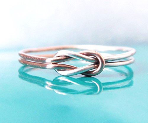 Double Love Knot Ring Sterling Silver Rose Gold - Sterling Silver Double Knot Ring