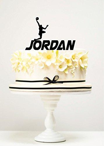KISKISTONITE Cake Toppers Basketball Player Jordan Custom Birthday Anniversary Favors Party Cake Decorating Supplies]()