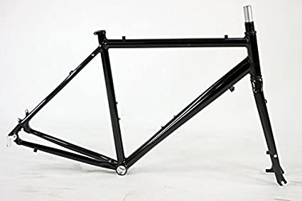 Amazon.com : Unbranded Cyclocross Bicycle Aluminum Frame Set Disc ...