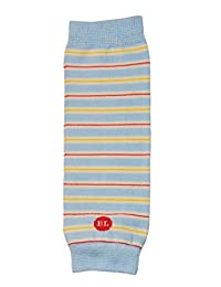 BabyLegs Sky Blue Organic Leg Warmers, Blue/Yellow/Red, 0-3m