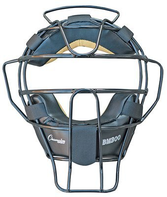 Ultra Lightweight Umpire Face Mask in Black by Champion Sports