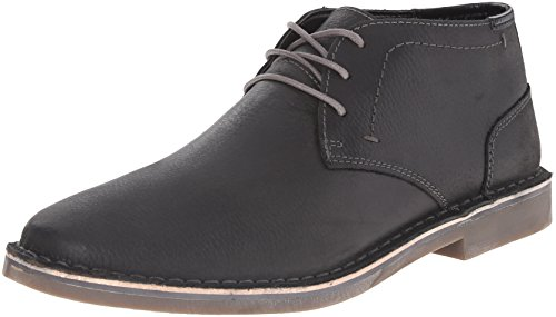 Kenneth Cole REACTION Men's Desert Sun SU Chukka Boot, Black Pebbled Leather,...