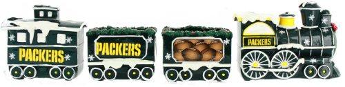 Green Bay Packers NFL Football Decorative Christmas Train Set