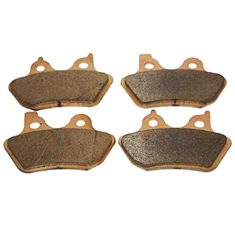 Front & Rear Brakes Harley Davidson Dyna Fxdbi Street Bob (Spoke Wheels)  Sintered Severe Duty Brake Pads 2006 2007