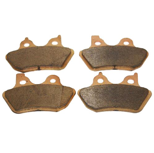 Front & Rear Brakes Harley Davidson Softail Fxstdi/fxstd Softail Deuce/i Sintered Severe Duty Brake Pads 2000 2001 2002 2003 2004 2005 2006 2007 BLS FA400X2