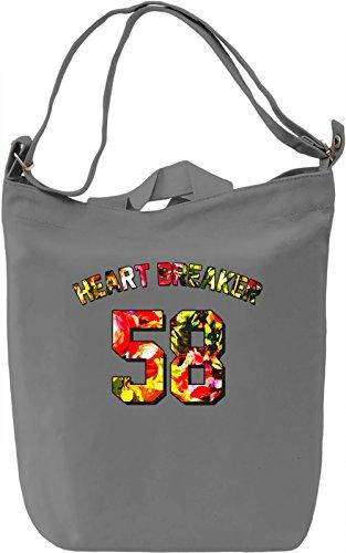 Heart Breaker Borsa Giornaliera Canvas Canvas Day Bag| 100% Premium Cotton Canvas| DTG Printing|
